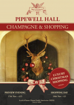 Shopping & bubbles at Pipewell Hall