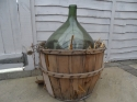 C1900 demi john with basket - picture 1