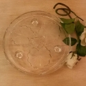 Vintage glass cake stand - picture 1