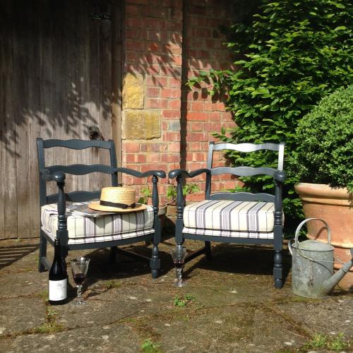 Pair of C1950 French ladder back chairs
