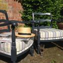 Pair of C1950 French ladder back chairs - picture 2
