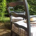 Pair of C1950 French ladder back chairs - picture 3