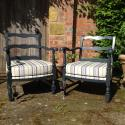 Pair of C1950 French ladder back chairs - picture 7