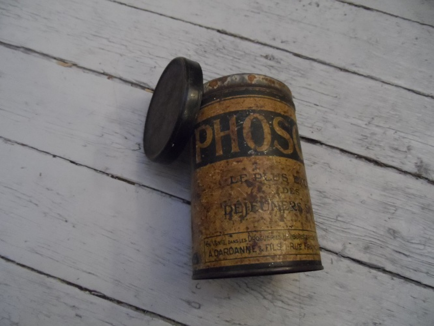 Vintage French Phoscao cocoa tin