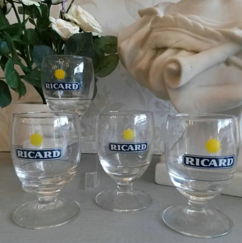Set of 4 Ricard glasses