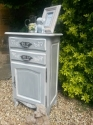 French 2 drawer painted unit - picture 2