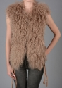 Mongolian lambs wool fur gilet - picture 2