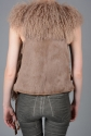Mongolian lambs wool fur gilet - picture 3