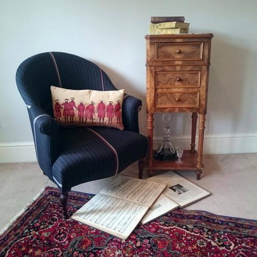 Antique French Armchair re styled in Paul Smith