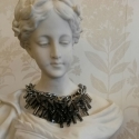 Spanish grey glass flower necklace  - picture 1