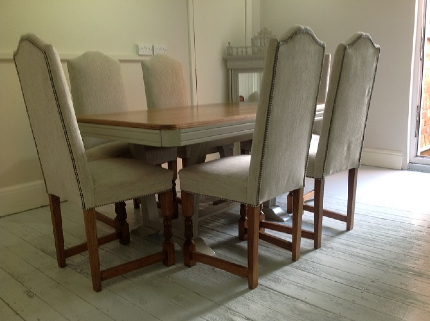Vintage French Art Deco Dining Table In Kitchen Dining