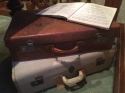 Vintage leather suitcase - picture 4