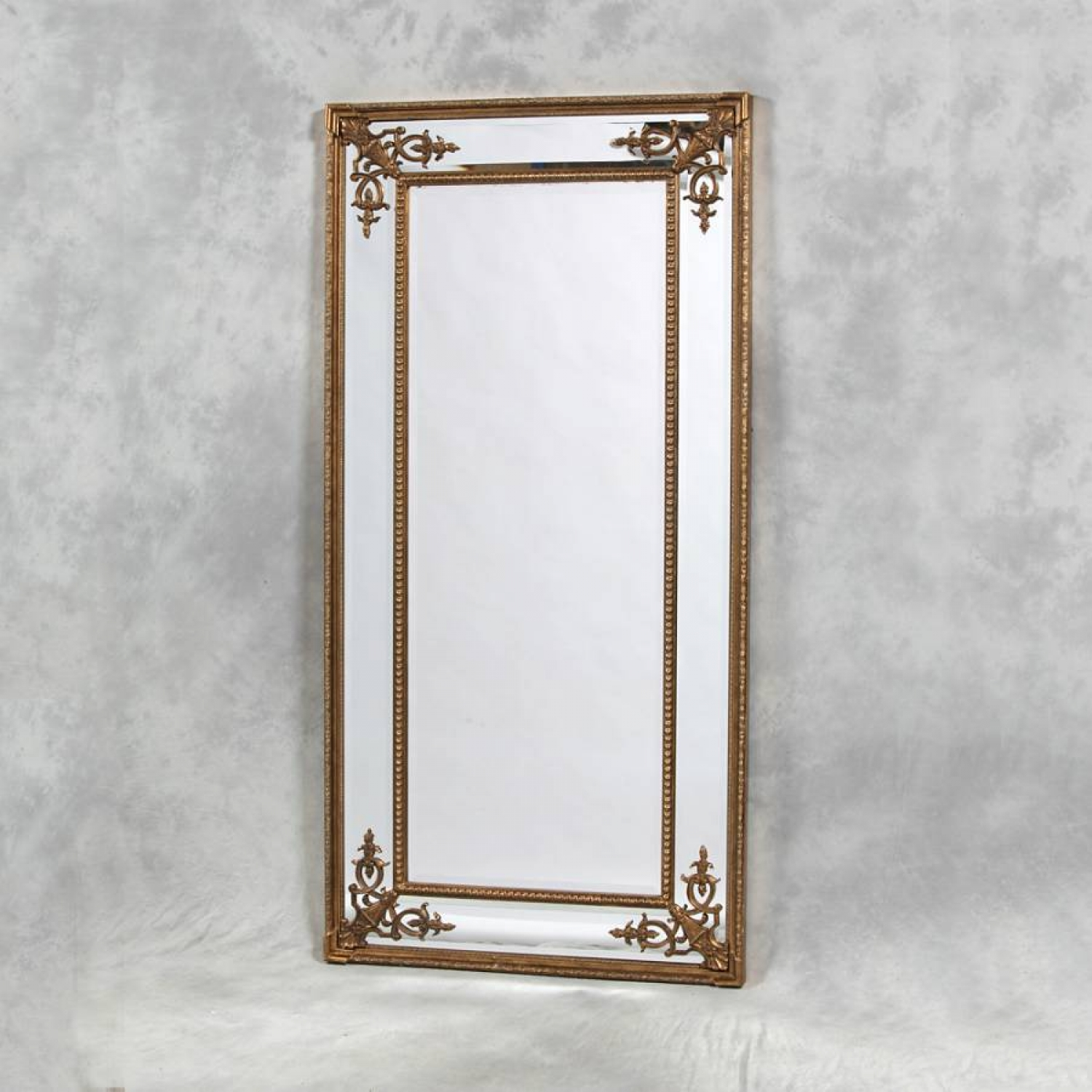 French style ornate gold mirror