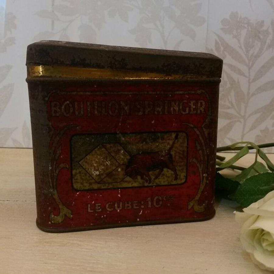 Vintage French stock  cube tin