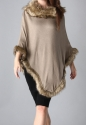 Faux fur poncho - picture 4