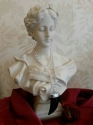 Spanish silver link chain with acrylic tusk pendant - picture 2