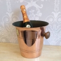 Vintage French copper champagne bucket - picture 1