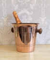 Vintage French copper champagne bucket - picture 2
