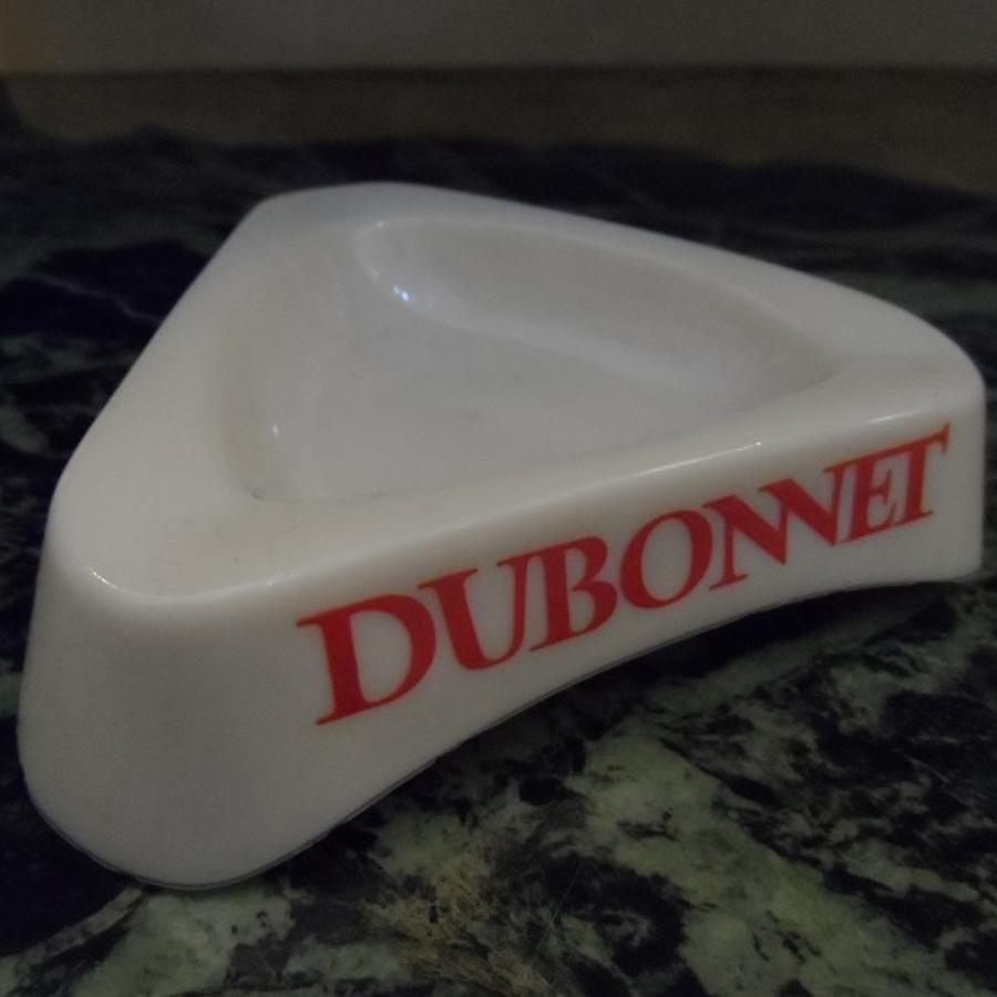 Dubonnet vintage French milk glass ashtray