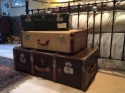 Vintage suitcase featuring a tiered interior - picture 4
