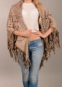 Faux suede cape/scarf with fringing - picture 3