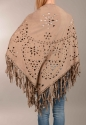Faux suede cape/scarf with fringing - picture 4