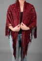 Faux suede cape/scarf with fringing - picture 7