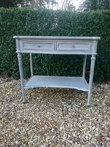 Vintage two drawer Louis XVI style console