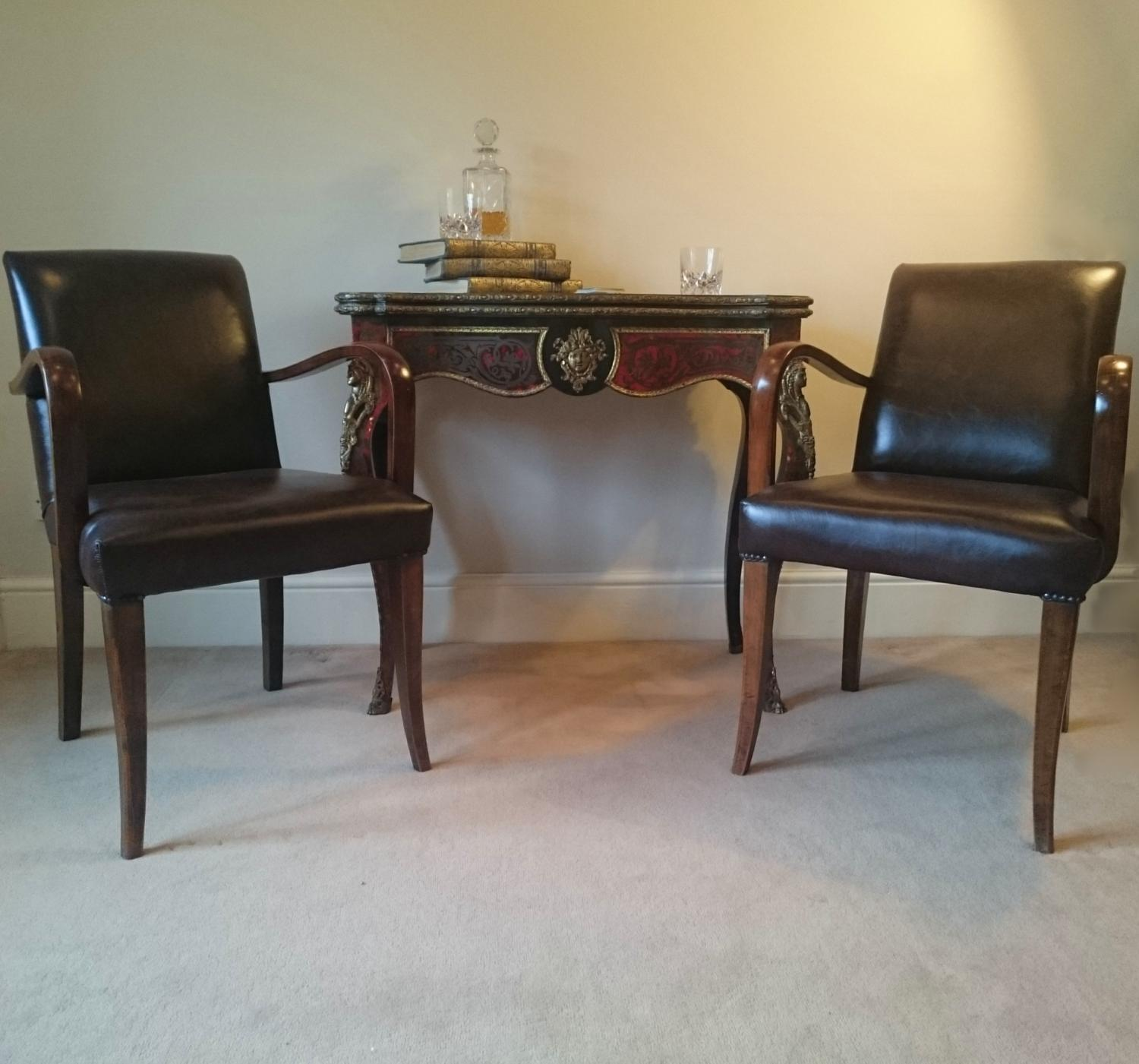 Pair C1940/50 Bridge Chairs