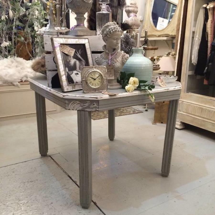French Art Deco painted dining table