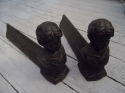 Vintage cast iron fire dogs C1900 - picture 1