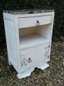 Vintage French marble bedside - picture 1