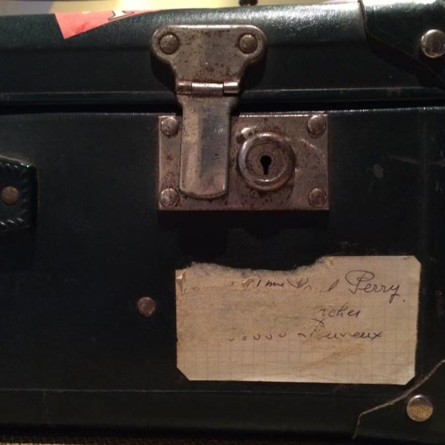 Vintage suitcase found in southern France