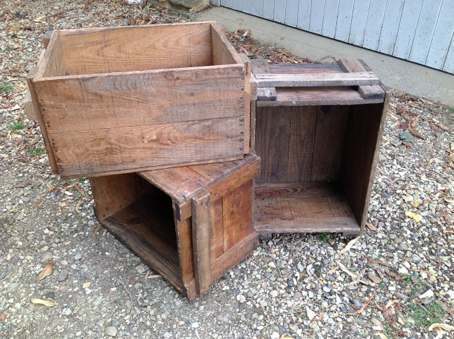 Vintage French crates