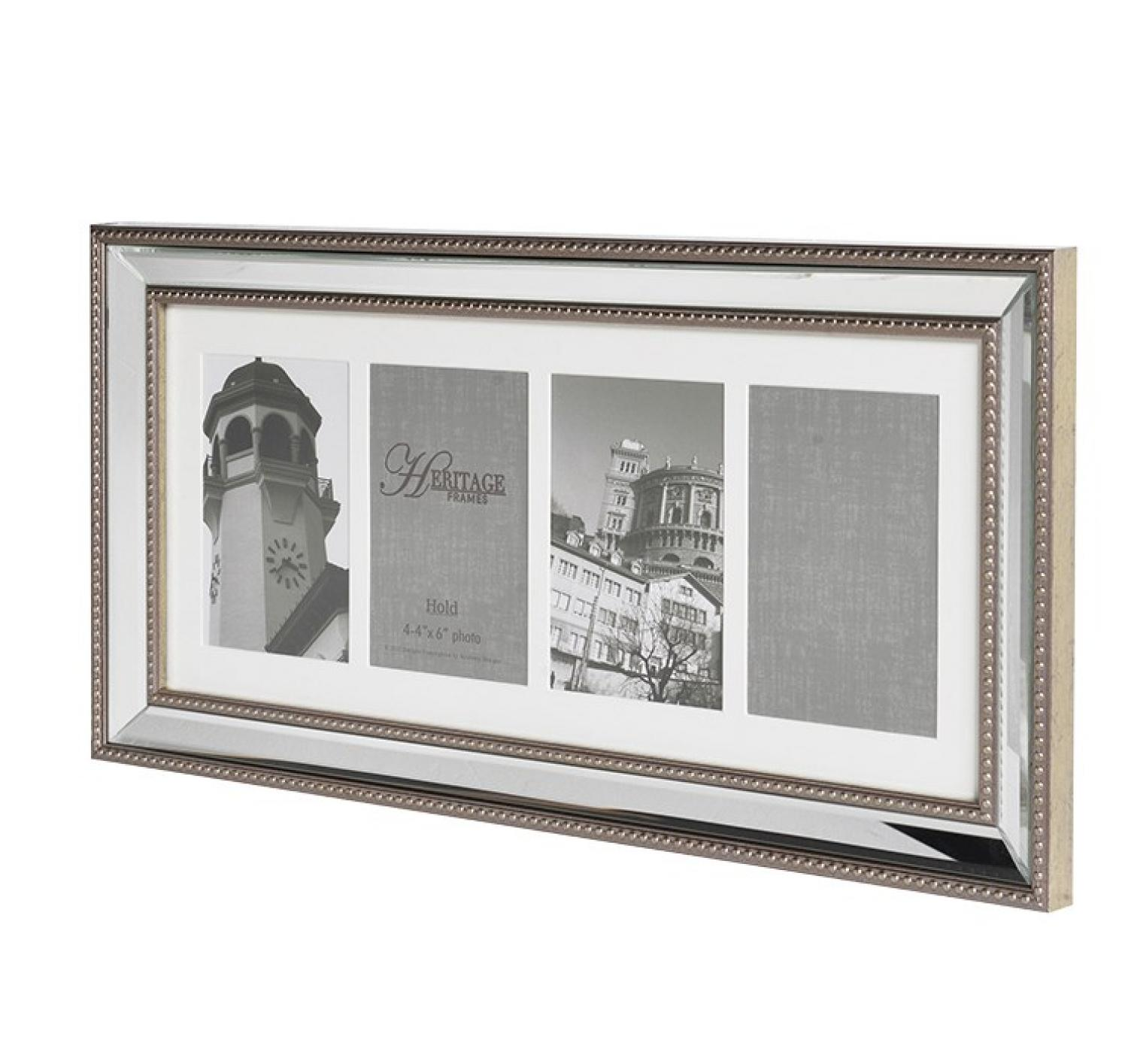 4x mounted 4x6 venetian photo frame