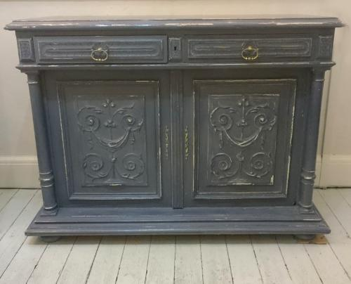 Vintage French painted sideboard