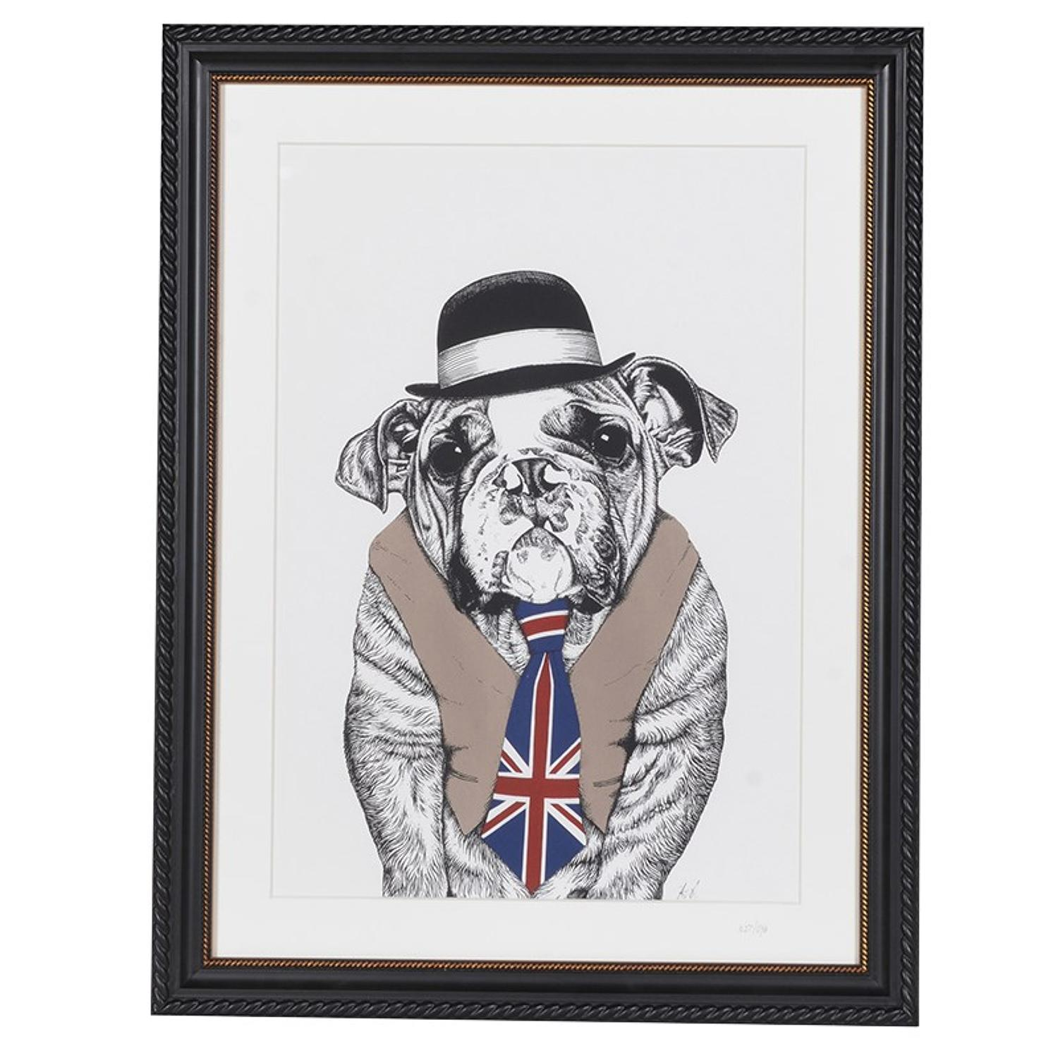 Quirky British bulldog print
