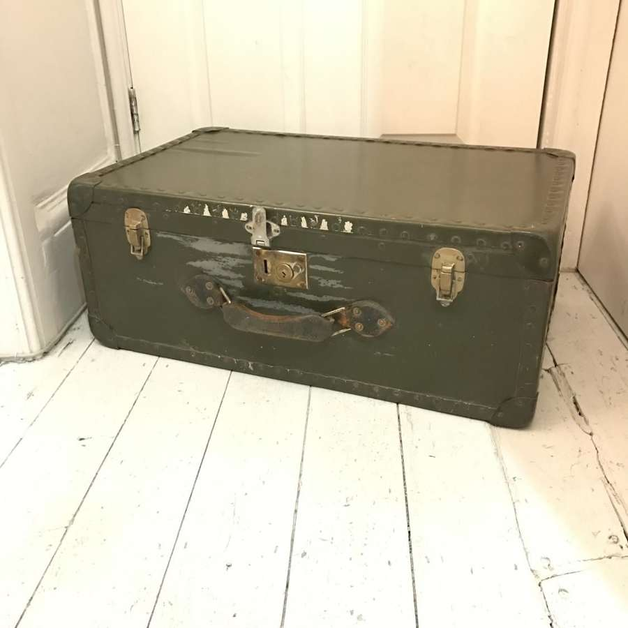 Khaki deep storage trunk